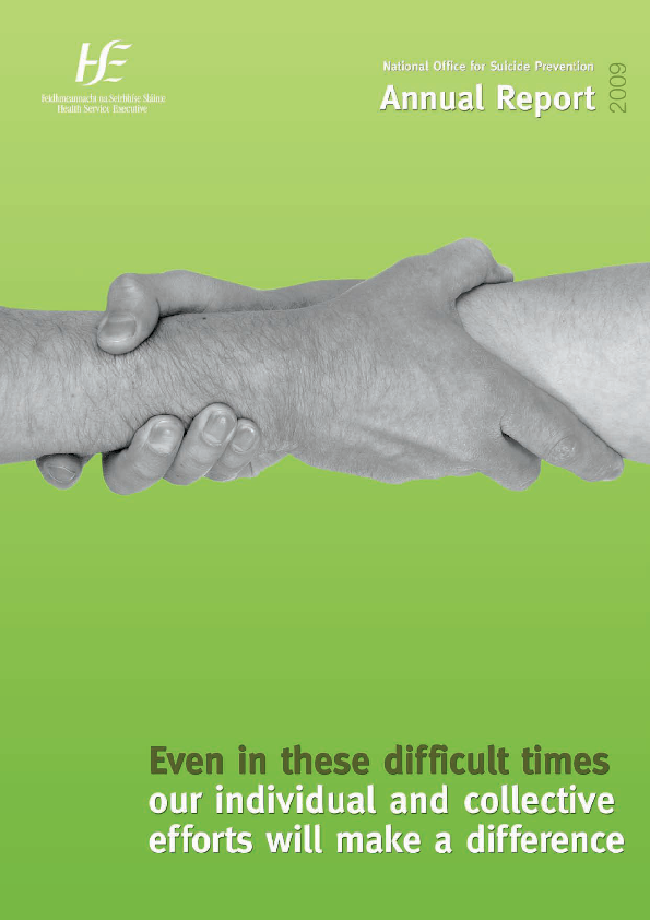 National Office for Suicide Prevention Annual Report 2009 front page preview