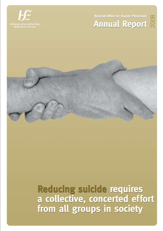 National Office for Suicide Prevention Annual Report 2008 front page preview