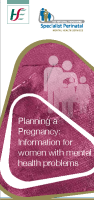 Planning a Pregnancy - Information for women with mental health problems front page preview image