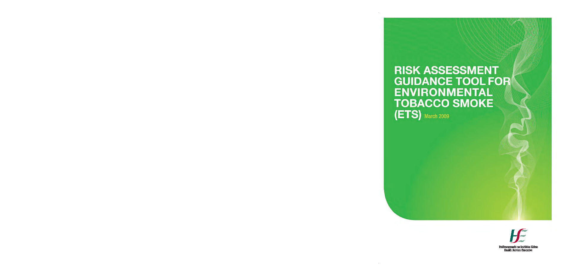 Risk assessment guidance tool for Environmental Tobacco Smoke front page preview