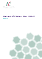 National HSE Winter Plan 2019-20 front page preview image