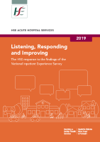 National Inpatient Experience Survey 2019 front page preview image