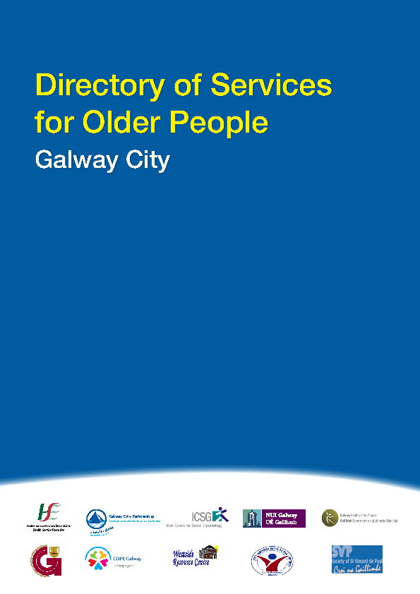 Directory of Services Older People (Galway City) front page preview