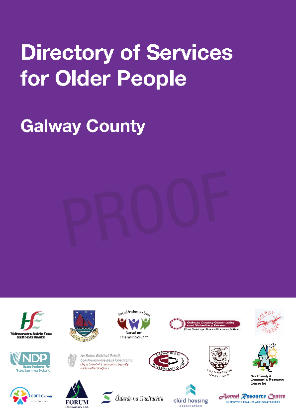 Directory of Services Older People (Galway County) front page preview