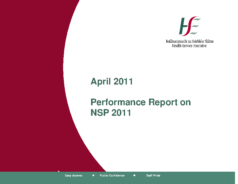 April 2011 Performance Report front page preview