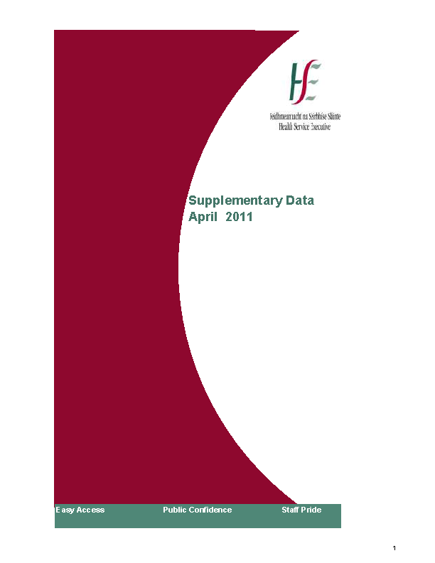 April 2011 Supplementary Report front page preview