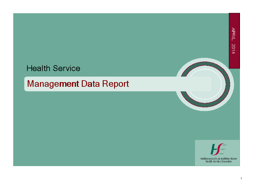 April 2014 Management Data Report front page preview