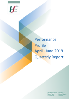April to June Quarterly Report 2019 front page preview image