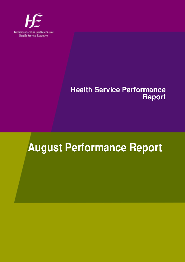 August 2015 Performance Report front page preview