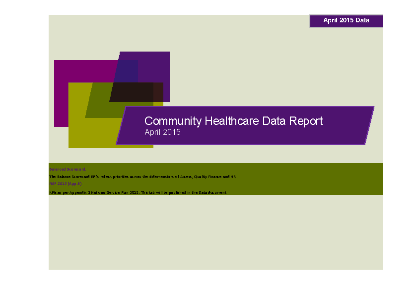 April 2015 Data Report front page preview