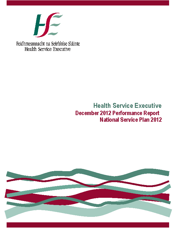 December 2012 Performance Report front page preview