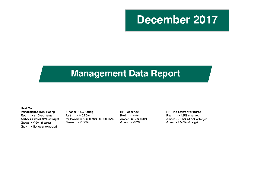 December 2017 Management Data Report front page preview