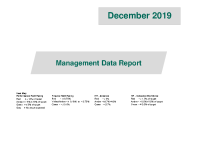 December 2019 Management Data Report front page preview image