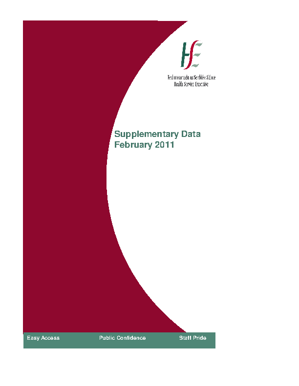 February 2011 Supplementary Report front page preview