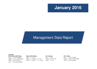 Management Data Report - January 2016 front page preview