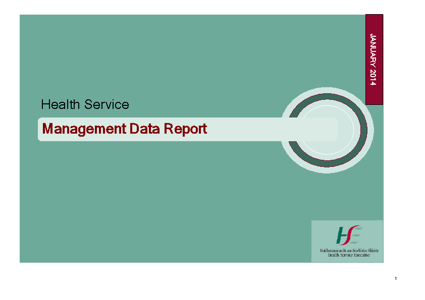 January 2014 Management Data Report front page preview