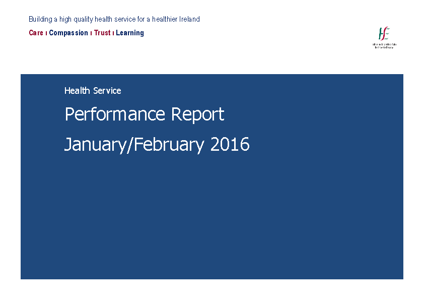 January February 2016 Performance Report front page preview