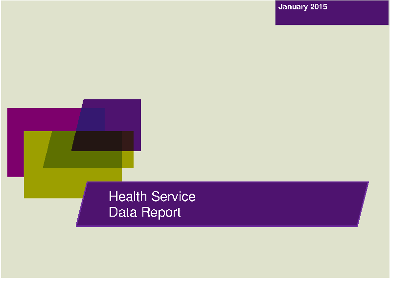 January 2015 Data Report front page preview image