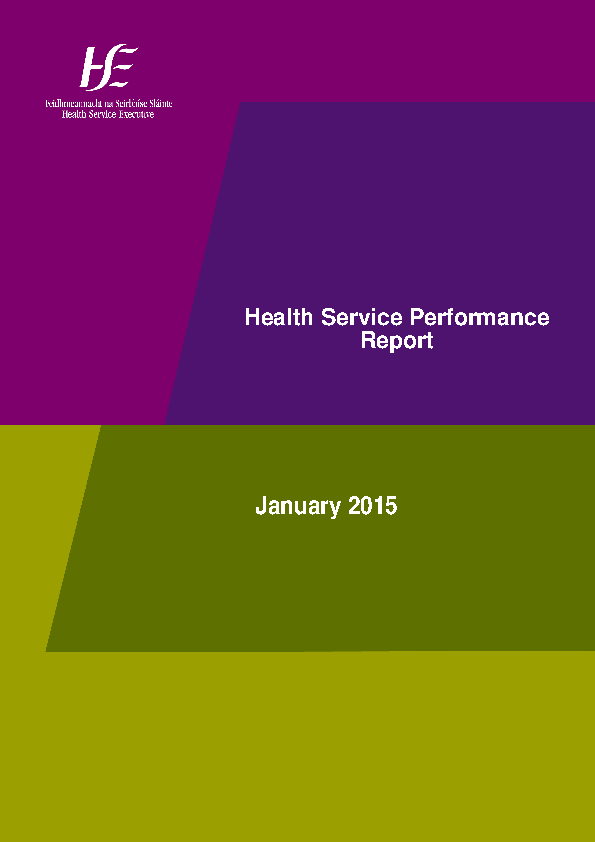 January 2015 Performance Report front page preview