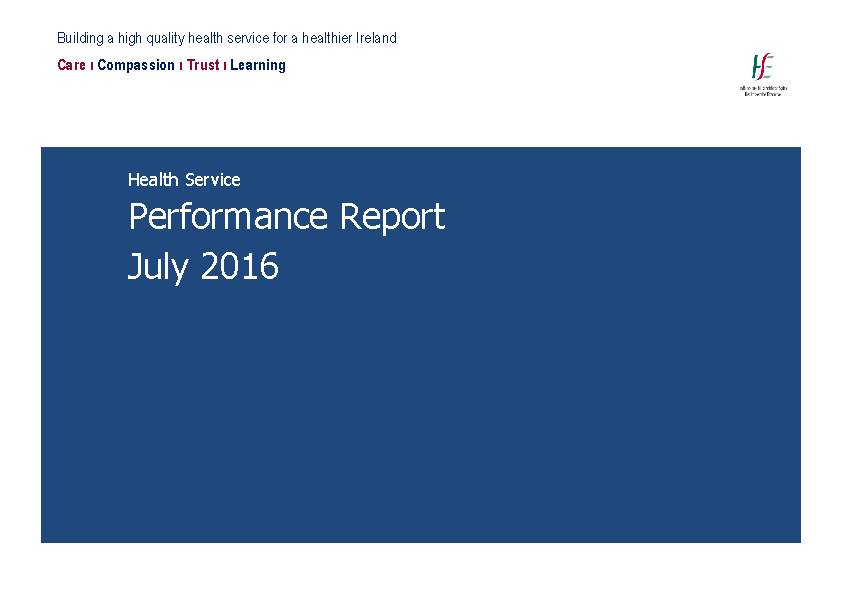July 2016 Performance Report front page preview