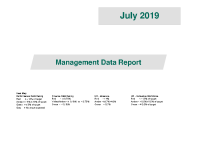 July 2019 Management Data Report front page preview image