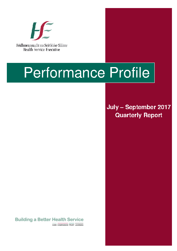 July September 2017 Performance Report front page preview image
