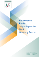 July to September 2019 Quarterly Report front page preview image