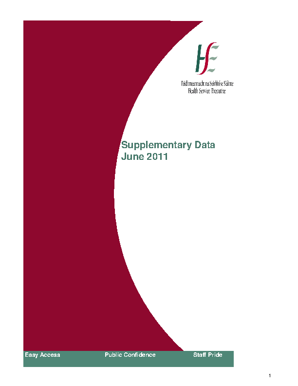 June 2011 Supplementary Report front page preview