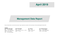 Management Data Report April 2019 front page preview image