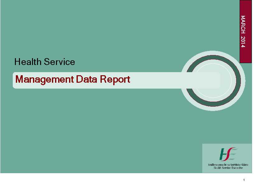 March 2014 Management Data Report front page preview