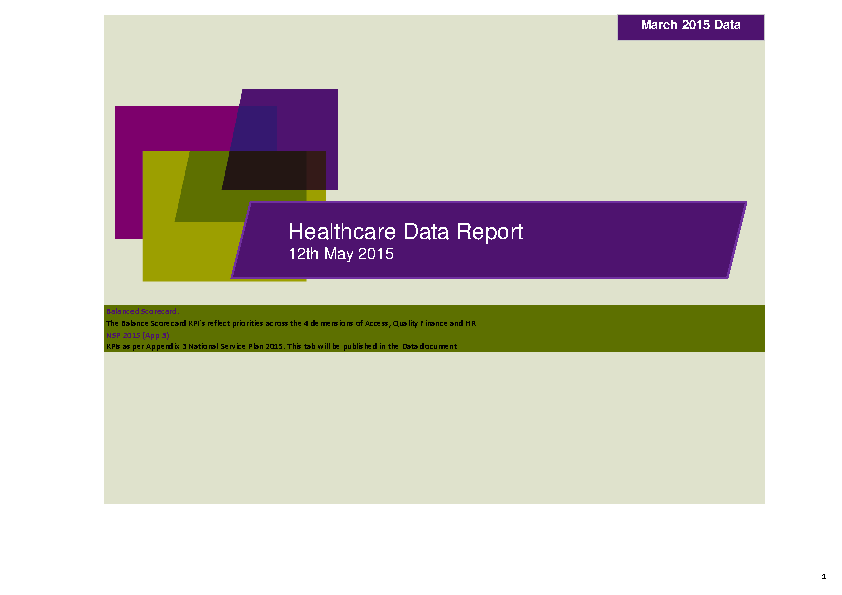 March 2015 Data Report front page preview