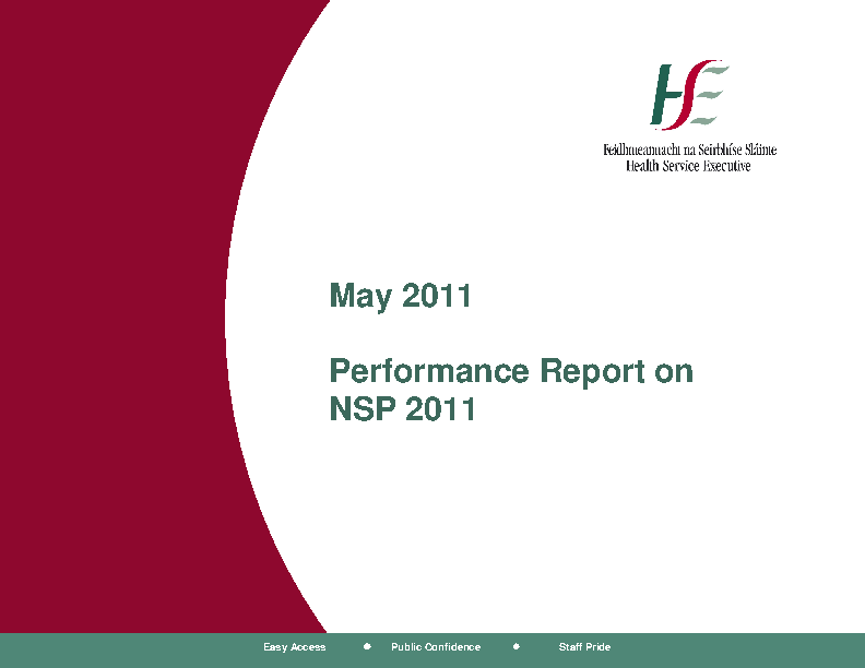 May 2011 Performance Report front page preview