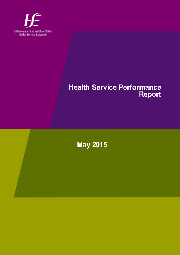 May 2015 Performance Report front page preview