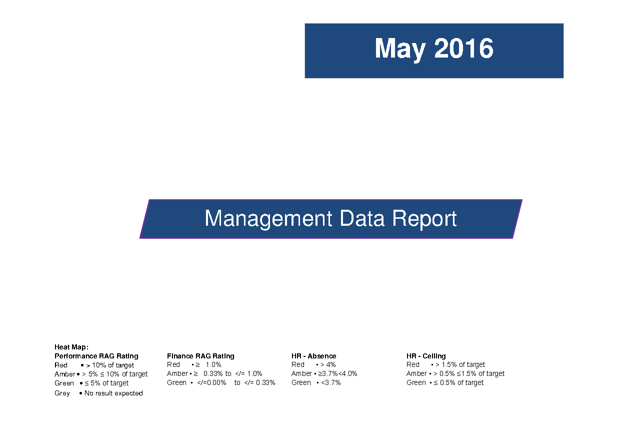 May 2016 Data Management Report front page preview