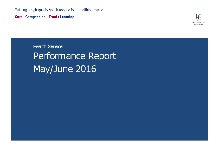 May June 2016 Performance Report front page preview
