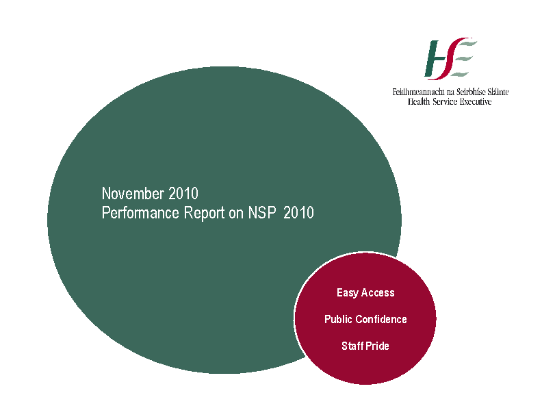 November 2010 Performance Report front page preview