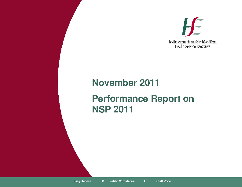 November 2011 Performance Report front page preview