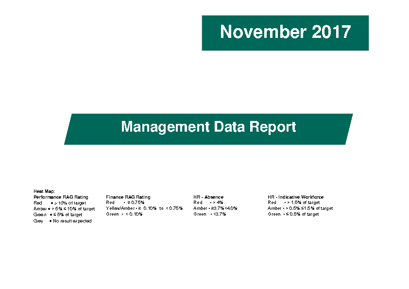 November 2017 Management Data Report front page preview