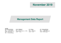 November 2019 Management Data Report front page preview image