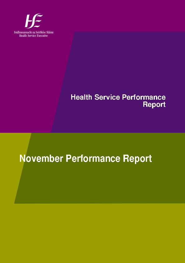 November 2015 Performance Report front page preview