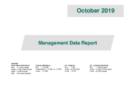 October 2019 Management Data Report front page preview image