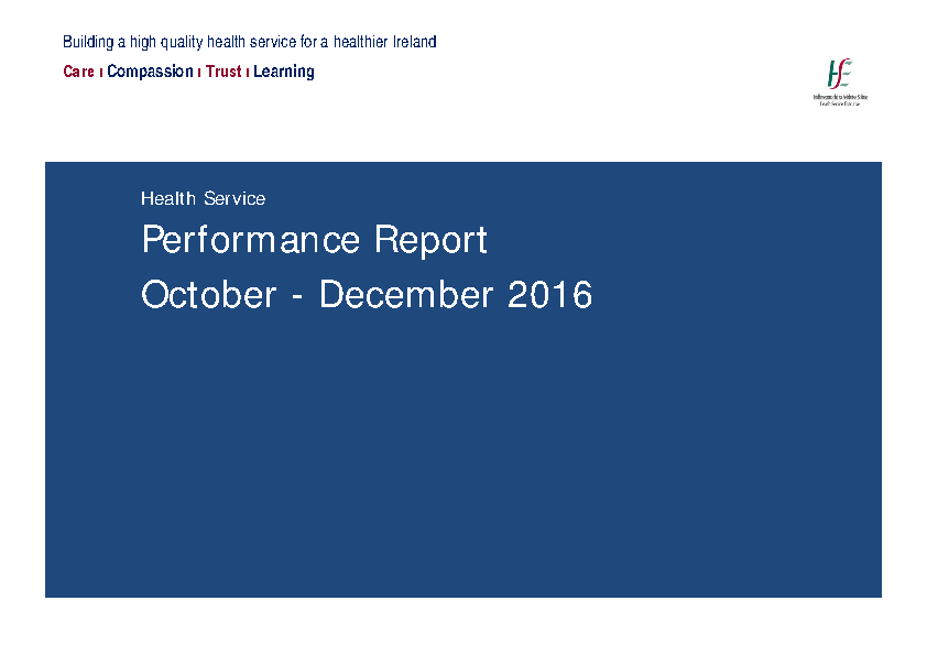 October December Performance Report 2016 front page preview