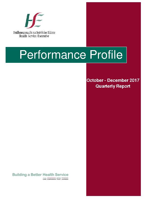 October to December 2017 Performance Report front page preview