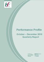 October to December Quarterly Report 2018 front page preview image