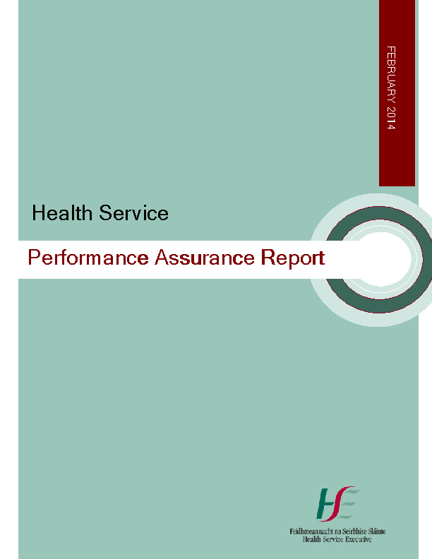 February 2014 Performance Assurance Report front page preview