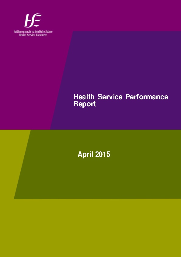 April 2015 Performance Report front page preview