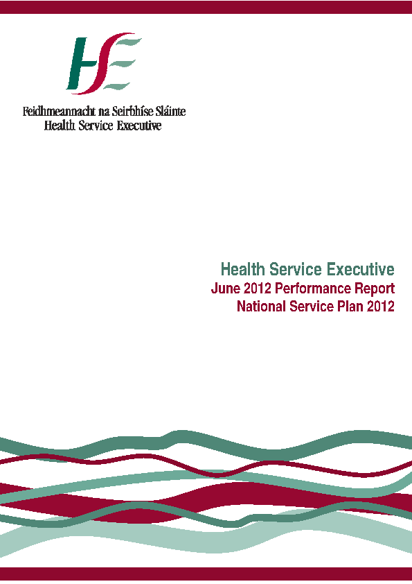 June 2012 Performance Report front page preview