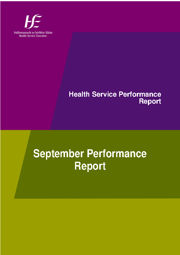 September 2015 Performance Report front page preview