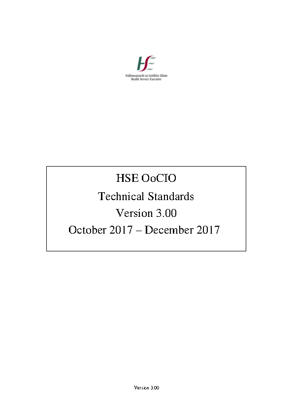 ICT Infrastructural and Operational Technical Standards for the Deployment of Computer Based Systems  front page preview image