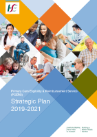 Primary Care Eligibility & Reimbursement Service Strategic Plan 2019-2021 front page preview image